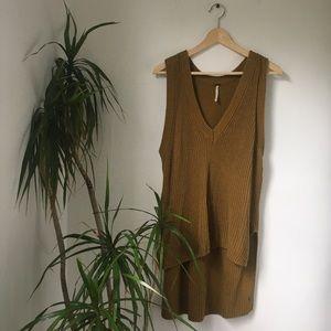 Free People Golden Heavy Knit Tank Sweater